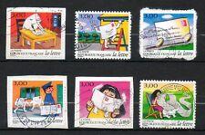 France 1997_timbres AA oblitérés_AA 9 à 14_série complète_sur support
