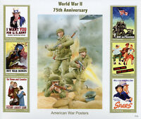Gambia Stamps 2017 MNH WWII WW2 World War II 75th Anniv War Posters 6v M/S