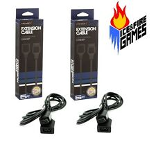 2x New 6 Foot Controller Cord Extension for Sega Genesis -- 6' Ft. Cable