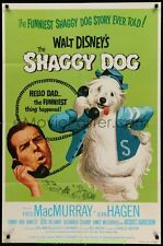 SHAGGY DOG MOVIE POSTER 1959 FRED MACMURRAY DISNEY Film R1974