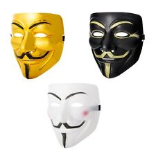 Mixed Pack of 3 Guy Fawkes Masks Anonymous Face Hacker Horror Halloween Dress UK