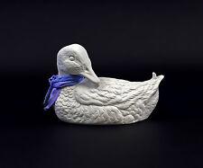 Porzellan-Figur Wagner & Apel Ente mit blauem Schal 16x10cm 9942683