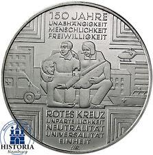 Deutschland 10 Euro Gedenkmünze 2013 bfr. 150 Jahre Rotes Kreuz in Münzkapsel