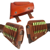 Tourbon Real Leather Cheek Rest Rifle Shotgun Stock Comb Riser/with Ammo Holder