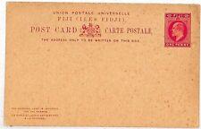 Vv313 Fiji Unused Kevii 1d + 1d Reply Postcard 1902 Stationery {samwells-covers}