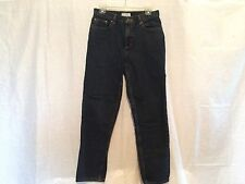 "Covington Dark Denim Straight Leg Classic Jeans Size 10 Inseam 29.5"" 100% Cotton"