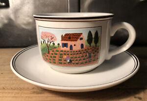 Tasse Sous Tasse Porcelaine Villeroy Et Boch Design naïf