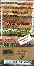 "Timeless Treasures Sonoma Tonga Batik Fabric Treats 40 Pieces/Strips, 2.5"" wide"
