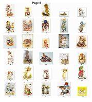 30 Return Address Labels Favor tags Vintage Children Buy 3 get1 free (vc8)