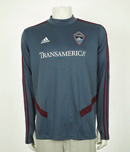 Adidas Colorado Rapids MLS Blue Goalie Soccer Jersey Mens Large