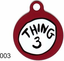 Cute Custom Personalized Pet ID tag for Dog and Cat ROUND Tags THING 3 Charm FUN