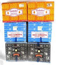 RÄUCHERSTÄBCHEN Räucherkegel incense Satya Nag Champa Goloka Superhit 68 Stück