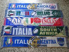 d1 lotto 5 sciarpe rugby ITALIA F.I.R. nazionale federation scarf bufanda lot