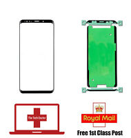 Samsung Galaxy S9 G960F Replacement Front Screen Glass with Adhesive - Black
