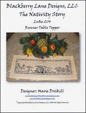 15% Off Blackberry Lane Designs X-stitch Chart-The Nativity Story Table Runner