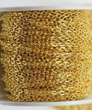 1/5M Silver/Gold Plated Cable Open Link Iron Metal Chain Finding DIY 0.7x3x2mm