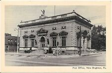 Post Office in New Brighton PA Postcard