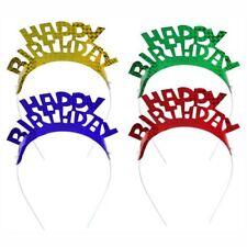 4 Haarreifen farbig sortiert bunt Happy Birthday Geburtstag Party Feier