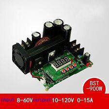 DC-DC 900W 10A 8-60V TO 10-120V NC boost power supply module CC/CV LED Driver