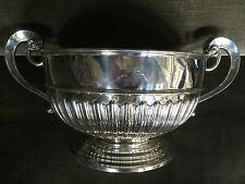 HUGE ANTIQUE SILVER PUNCH BOWL WINE COOLER MONTEITH MONUMENTAL CHAMPAGNE COOLER.