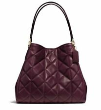 Coach Phoebe Shoulder Bag in QUILTED Leather OXBLOOD/BURGUNDY F36696 $525 NWT
