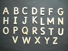 Alphabet wooden upper case letters full alphabet Sassoon font approx 55 letters