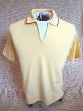 Outer Banks Women's Golf Tennis V-Neck Short Sleeve Polo~Yellow ~ MEDIUM ~ NEW