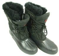 Sorel Womens Waterproof Winter Snow Duck Boots Black Insulated Lined Size 7