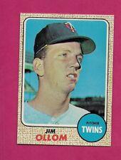 1968 TOPPS # 91 TWINS JIM OLLOM  ROOKIE EX-MT CARD (INV# A4846)