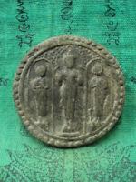 Phra Buddha 2 Disciple Ayutthaya Talisman Old Thai Buddhist Amulet