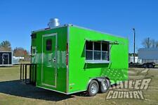 New 2021 8.5X16 V Nose Enclosed Mobile Concession Kitchen Food Vending Trailer