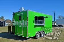 New 2021 85x16 V Nose Enclosed Mobile Concession Kitchen Food Vending Trailer