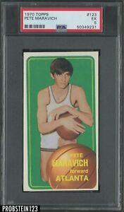 1970 Topps Basketball #123 Pete Maravich Atlanta RC Rookie HOF PSA 5 EX