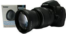 Telephoto Zoom Lens 2.2x for Nikon FM2 D5300 D90 D3300 D80 D5200 D5300 FE2 D70