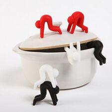 2Stk/set Topfdeckelhalter Splash Topfwächter Topf Kochen Tools Spill-proof Cute