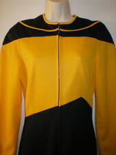 Womens STAR TREK Jumpsuit COSTUME 10 Uniform Suit Space M Next Voyage YELLOW