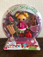 "Lalaloopsy Mini HOLLY SLEIGHBELLS 3"" Doll NEW Sew Snowy Series 10 #4 Christmas"