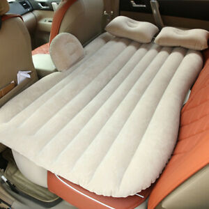 Inflatable Car Air Bed Mattress Back Rear Seat Rest W/ 2 Pillow