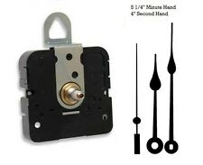 """Clock Movement Quartz Takane With 5 1/4"""" hands, for Dials up to 1/2"""" Thick"""