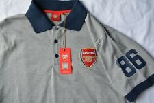 Polo Arsenal Football Club Mens Sz S Official Shirt Soccer Gunners Gray 1886