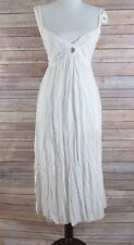 Island Plant Sleeveless Sun Dress Cover Up Womens Size S Embroidered Sequins