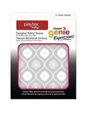 (2 Pack) Playtex Diaper Genie Expressions Diaper Pail Fabric Sleeve, Pink/Grey
