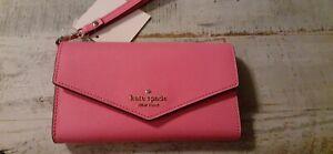 Kate Spade New York Laurel Way iPhone Wristlet Phone Wallet Pink Starbust-NWT