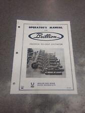 Brillion Precision Ro Crop Cultivators Operators Manual 3j363