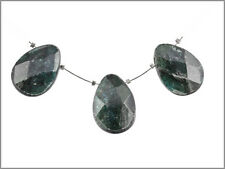 3 Blue Green Kyanite Pear Briolette Beads 18x25mm 70032