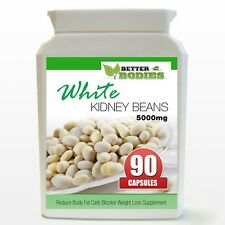 White Kidney Bean 5000mg Weight Loss Reduce Body Fat Carb Blockers 90 Bottle