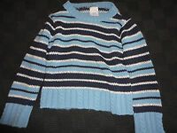 Boy's / Boys Stripey Blue Jumper - 2 - 3 years