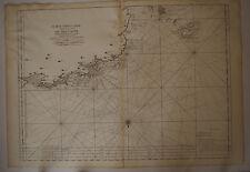 Carte marine Bretagne Ouessant  époque  XVIII° Siècle Neptune Francais