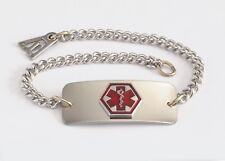 BLANK  Medical Alert ID Bracelet - Built in the USA -FREE CUSTOM ENGRAVING