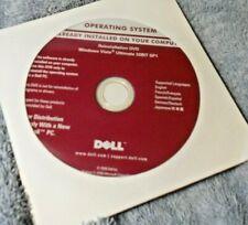 GENUINE DELL REINSTALLATION DVD WINDOWS VISTA ULTIMATE 32 BIT fast free S&H